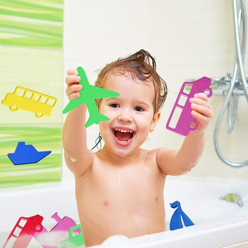 Baby Letter Puzzle Bath Toy Soft Safe EVA Foam Animal Traffic Digital Suction Up Water Toy Education Learning Bathroom Beach Toy