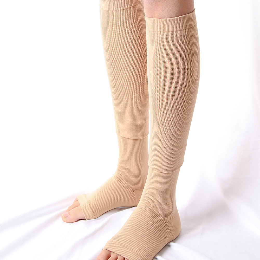 1 Pair Unisex Compression Socks Men Women Medical Varicose Veins Leg Relief Pain Knee Bare Toe Breathable High Socks