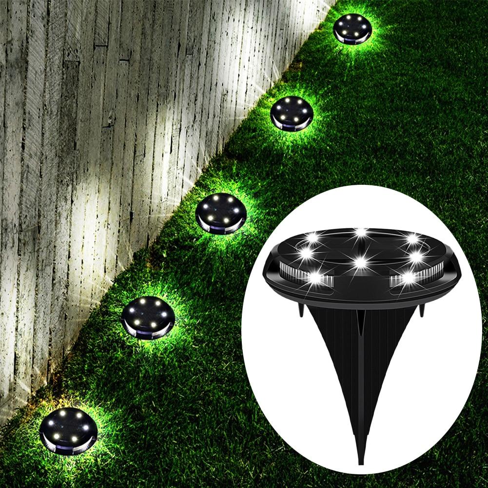 Pátio ao ar livre enterrado lâmpada gramado