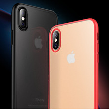 Ultra-Thin Case for iPhone 11 Pro Max X XS Max XR Frosted Shockproof Case Cover For 7 8 Plus TPU PC 2-in-1 Protective Case case for iphone 11 pro max soft tpu case ultra thin bumper case for iphone 11 pro case cover frosted shockproof covers