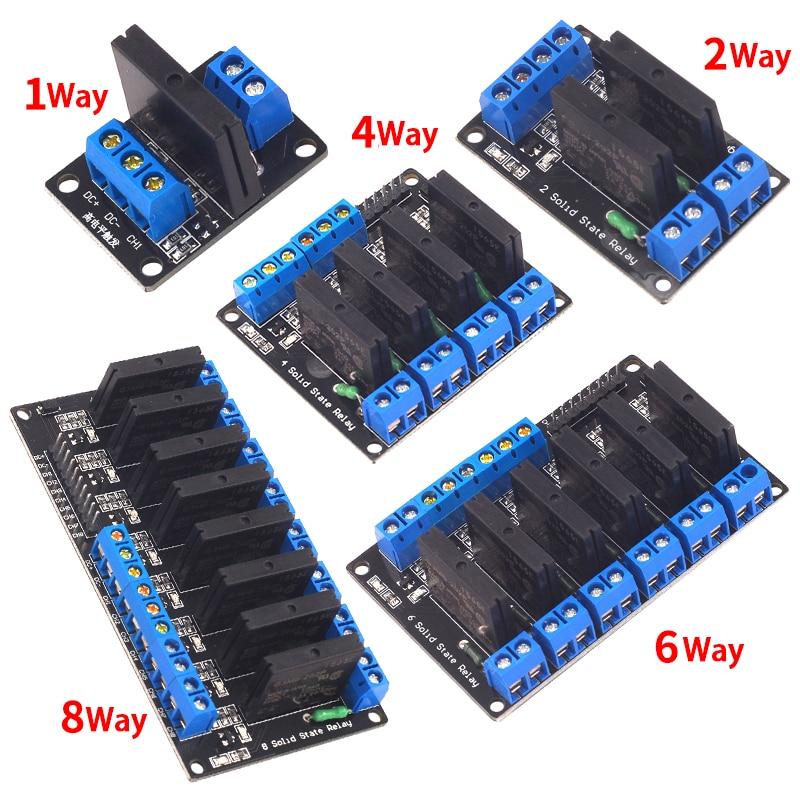 5V реле 1 2 4 8 канальный OMRON SSR Высокий Низкий уровень твердотельные реле Модуль 250V 2A для Arduino