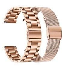 Pulsera de acero inoxidable para samsung Galaxy Watch Active2, banda magnética milanese Loop de 20mm y 44mm y 40mm para active 2