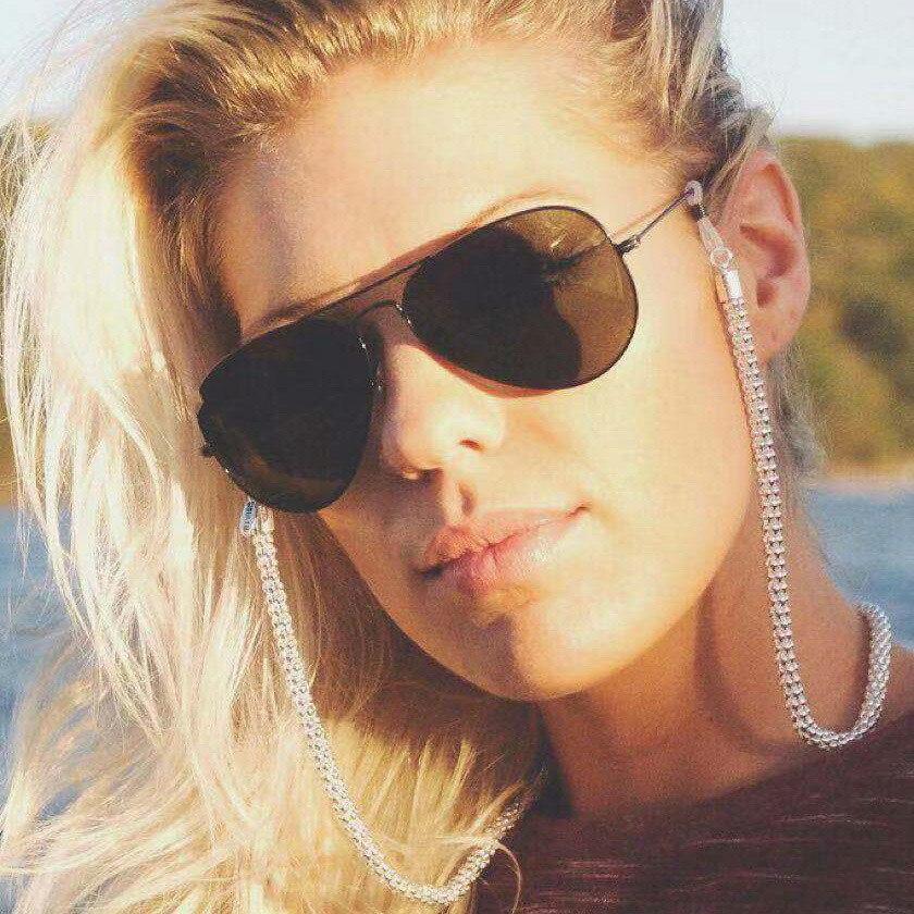 70cm Heart Hollow Eye Glasses Chain   Sunglass Chain Beads Cord Eyeglass Women Eyewear Accessory Chic Sunglasses Strap