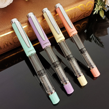 High Quality Piston Fountain Pen Large Capacity Fashion Classic Transparent Color Ink Stationery Office School Pens Supplies