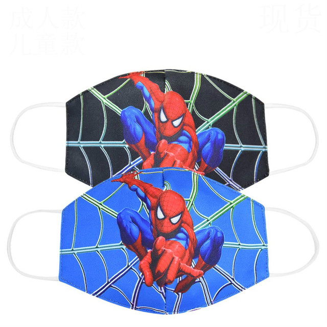 2020 Boy Hero Cotton Face Mouth Mask Kids Cartoon Spiderman Superman Printed Boys Dustproof Cover Anti Dust Mouth-Muffle 2