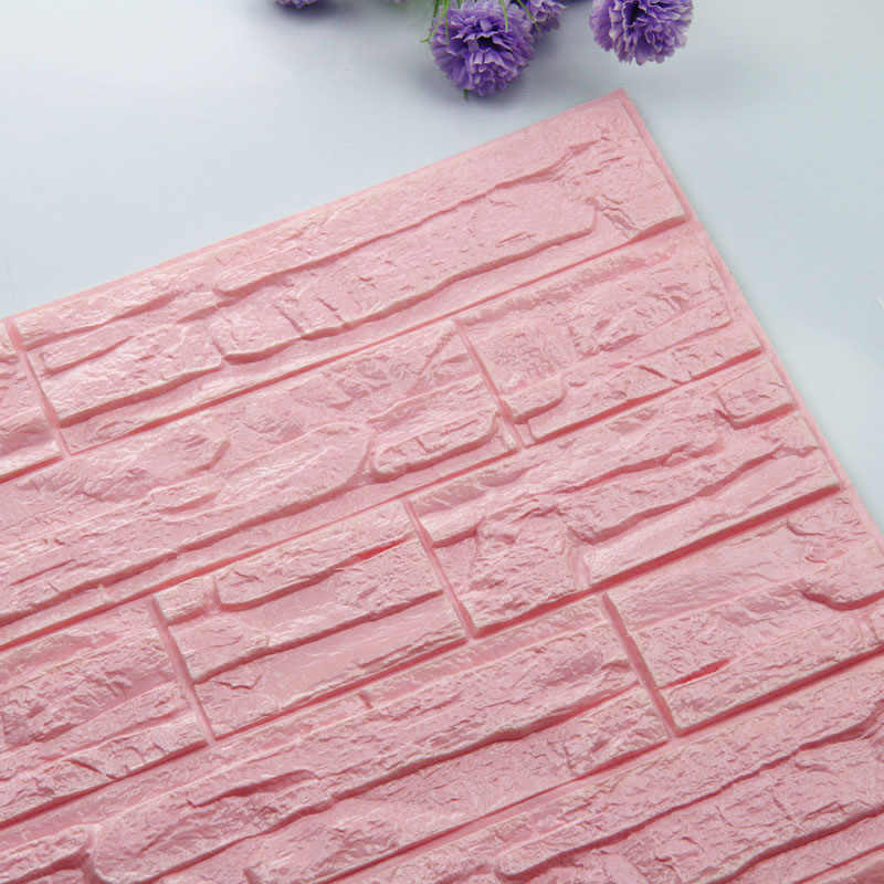 Bricolage auto-adhésif 3D brique Stickers muraux salon décor mousse imperméable à l'eau revêtement mural papier peint pour fond TV enfants chambre
