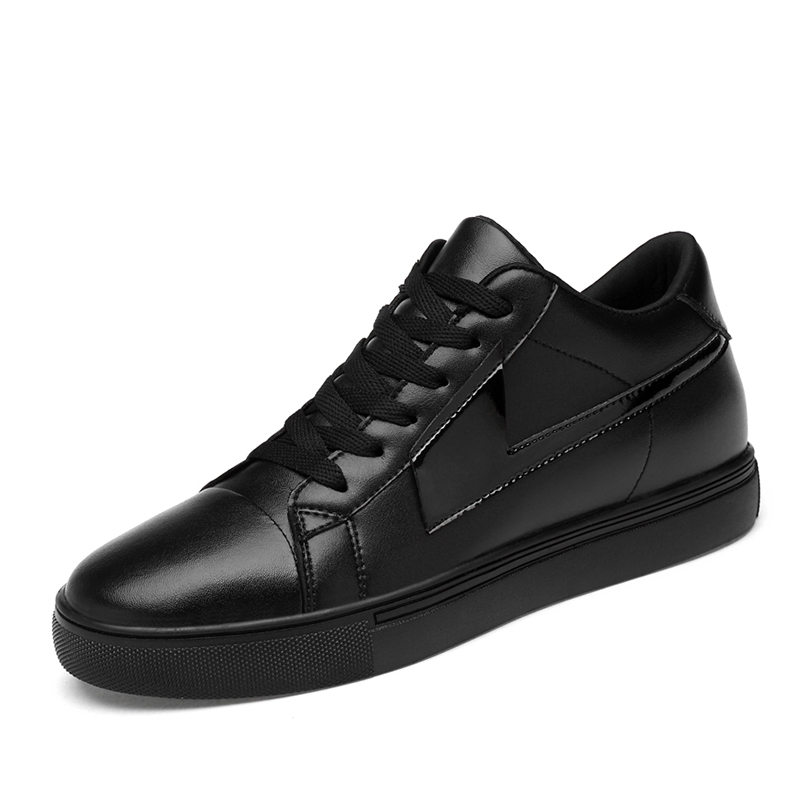 Мужская официальная обувь; зимняя мужская модельная обувь; брендовая мужская кожаная обувь; Мужская классическая деловая обувь; большие размеры 39-44% 18789 - Цвет: Черный