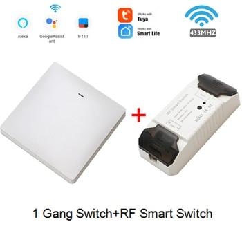 Smart Life APP WiFi RF DIY Switch Wifi Smart Breaker Switch Wireless Controller Light RF 433Mhz Wall DIY Relay Timer Tuya 14