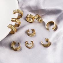 цена на 10 Pcs Punk Gold Metal Ear Cuff Cartilage Ear Clip for Women No Pierced C Shape Geometric Small Earcuff Ear Wrap Earcuff Clips