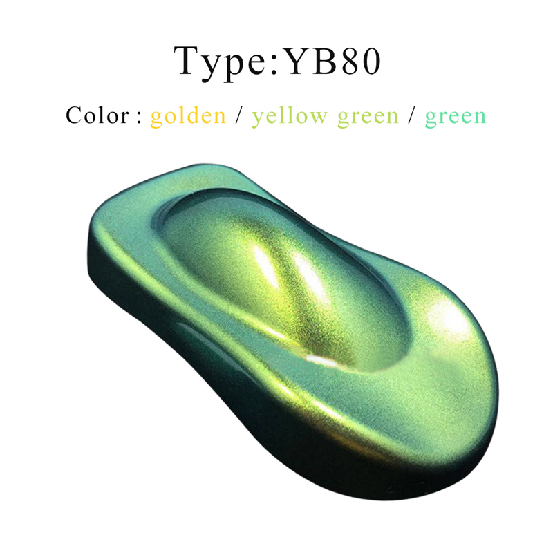 Chameleon Pigment YB80 Acrylic Paint Powder Coating Color Changing For Painting Cars Arts Crafts Plastic Nails Decoration 10g