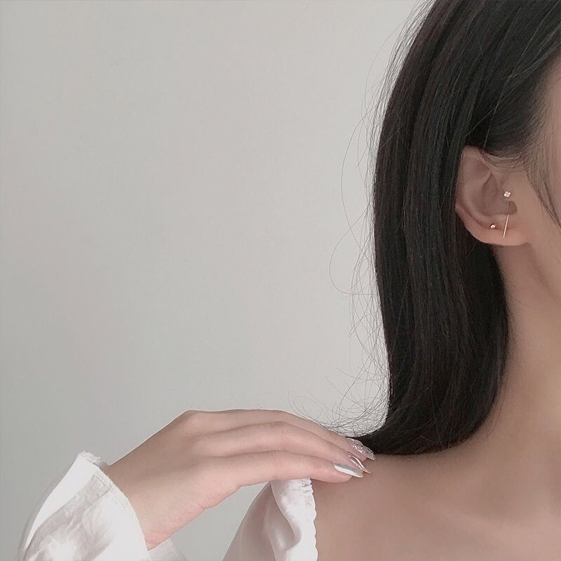 5pcs/set Gold Silver Color Crystal Stud Earring Set For Women Simple Cute Small Earrings 2020 New Fashion Koeran brincos Jewelry