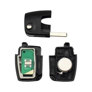 Image 4 - Keyyou 433mhz 4d63 chip 3 botões flip dobrável chave de controle remoto para ford focus fiesta 2013 fob caso com hu101 lâmina