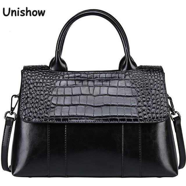 Женские сумки из спилковой кожи с крокодиловыми узорами
