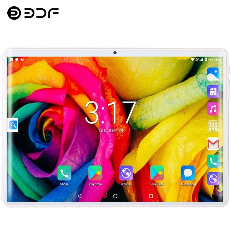 10,1 дюймов планшетный ПК Android 9,0 3G/4G Телефонный звонок десять ядер 8 ГБ/128 Гб Две sim-карты ips 2.5D Закаленное стекло gps планшет + клавиатура