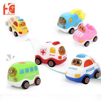 Cute Mini Car Pull Back Toy Vehicles Mobile Alloy Vehicles Model Toy Metal Lovely Colorful Fire Truck Taxi Bus Toys Car For Kids