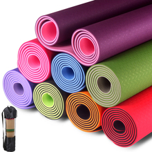 Two-color TPE Yoga Mat Exercise Pad Thick Non Slip Folding Gym Fitness Mat Pilates Outdoor Home Training Mat With Yoga Mat Bag foldable gymnastics mats indoor sports folding fitness gym exercise yoga mat pad outdoor training body building mattress