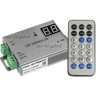 016999 Controller HX-805 2048 Pix 5-24 V, Sd Card, REMOTE CONTROL) Box-1 Pcs ARLIGHT-Управление Light/Running Light RGB [SP ^ 82