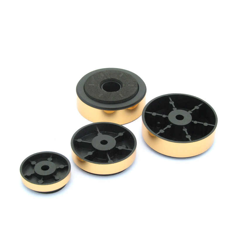 UNISIAN 4Pcs Speaker Feet Pad Gold Color Amplifier Feets  Shock Absorption Damping Feets For DIY Audio Stereo Speakers