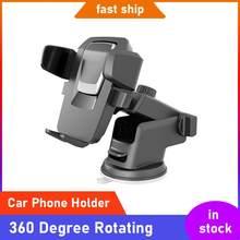 Suporte universal do telefone do carro 360 graus de rotação do telefone móvel gps suporte de montagem ajustável para 3.5-6.5 Polegada smartphones