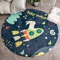 Детский коврик для лазания  милый мультяшный коврик для спальни  круглый коврик для детской гостиной  игровой коврик  Нескользящие круглые ...