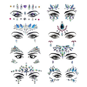 Face Jewels Sticker Make Up Ad