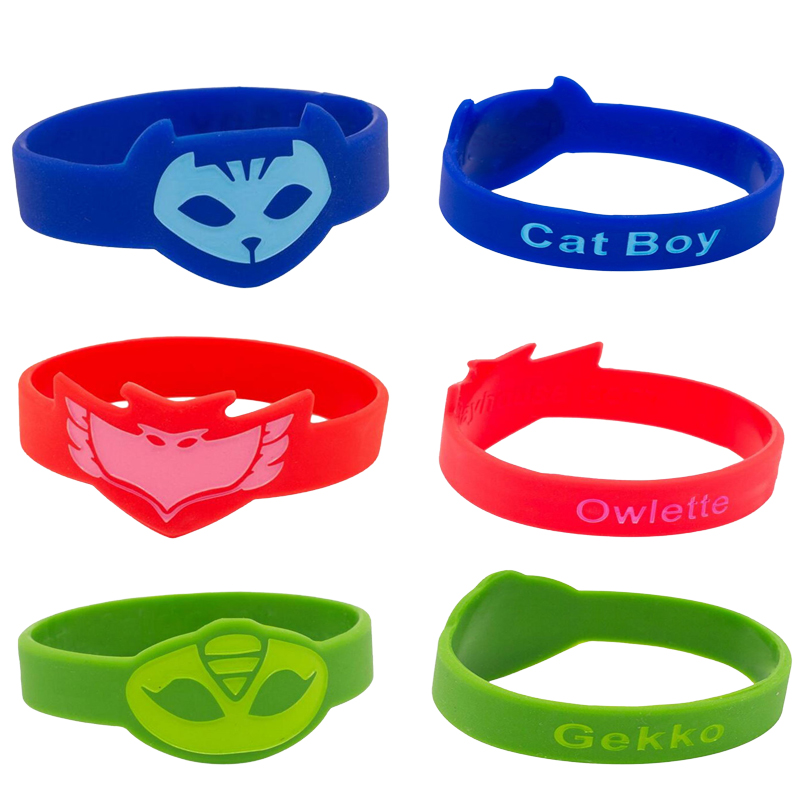 Pj Mask Juguete Silicone Sports Bracelet PJ Masks Toy Cartoon Anime Figure PVC Catboy Owlette Gekko Toys For Children  Gift S20