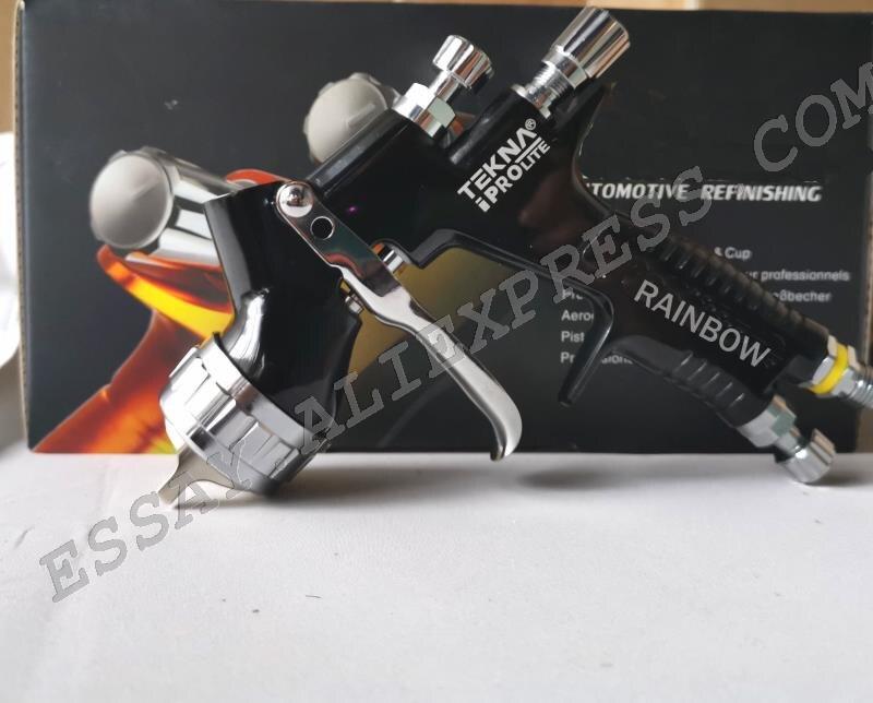 Pistolet à peinture en aérosol TENKA PRO LITE noir 1.3mm w/t réservoir LVMP outil de peinture de voiture pistolet pistolet à BASE d'eau