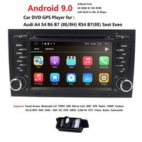 Free shipping! 4G WIFI Android 9.0 CAR GPS Navi for audi A4 2002 2008 S4 RS4 8E 8H B6 B7 With BT RDS DVD multimedia player radio