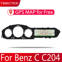 Android 2 Din Car radio Multimedia Video Player auto Stereo GPS MAP For Mercedes Benz C Class C204 2011~2014 Media Navi цена