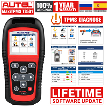 Autel MaxiTPMS TS501 TPMS Service OBD2 เครื่องสแกนเนอร์เครื่องมือวินิจฉัยรถยนต์เครื่องสแกนเนอร์รถยนต์ Diagnostics OBDII Code Reader