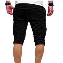 Men's Summer Outdoor Cargo Shorts Relaxed Fit Multi-Pockets Elastic Waist Casual Shorts Slim Solid Drawstring  Jogging Shorts