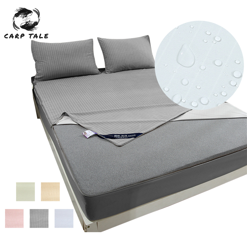 Six Sides Protection Quilted Cotton Waterproof Mattress Cover Breathable Anti Dust Mite Home Hotel Bed Cover Zipper Bedspread
