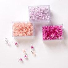 Push-Pins Thumbtacks Cork-Board Decorative Nail Photo-Wall Transparent Plastic for Colored