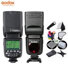 GODOX TT685 kamera flaş ışığı TTL 2.4G HSS 1/8000s GN60 kablosuz Speedlite TT685 C/N/S/O/F için Canon Nikon Sony Olympus Fuji