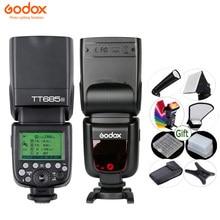 GODOX-Flash de cámara TT685, luz de cámara TTL 2,4G HSS 1/s 8000 GN60, inalámbrico, Speedlite TT685-C/N/S/O/F para Canon, Nikon, Sony, Olympus, Fuji