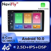 NaviFly Car Radio Multimedia video player GPS navigation Android 10.0 4GB+64GB For Audi A4 B6 B7 S4 B7 B6 RS4 B7 SEAT Exeo