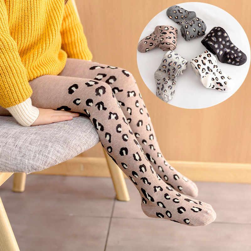 2019 Frühling Herbst Strumpfhose Für Kinder Leopard Cotton Girls StockingsTights