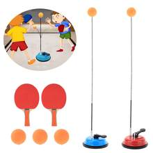 Ping Pong Trainner Elastic Soft Shaft Table Tennis Trainer Elastic Rod Training Ball With Leisure Decompression Sports Set 4(China)