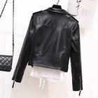 Faux PU Leather Coat...