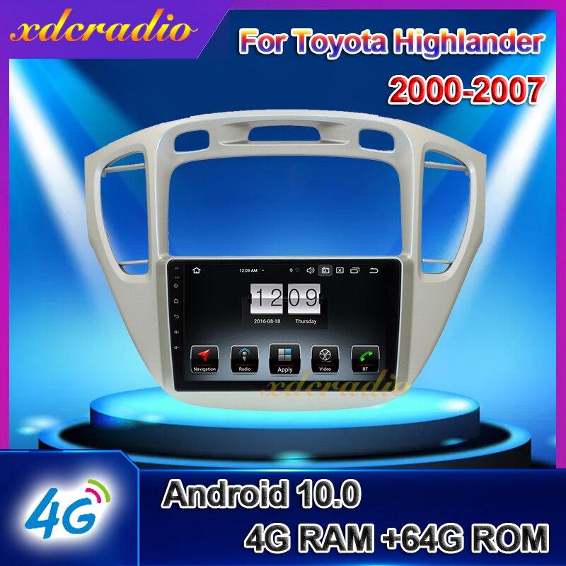 "Xdcradio Android 10.0 For Toyota Highlander 9"" Car Radio Automotivo GPS Navigation Car Dvd Multimedia Player Stereo 4G 2000-2007"