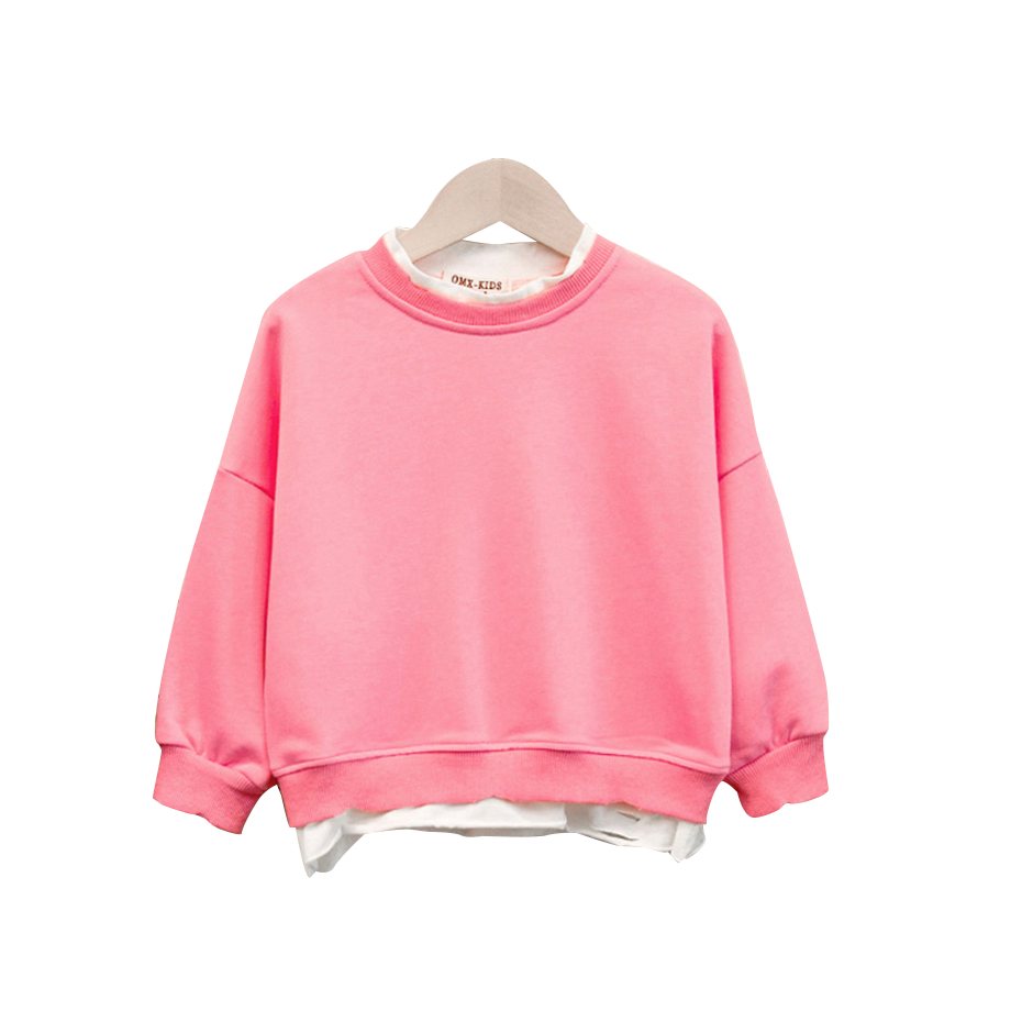 Cute Baby Sweater Solid Color Sweatshirt Baby Girls Kids Casual Style T-Shirt Clothes Blouse Sweatshirt Cardigan 1