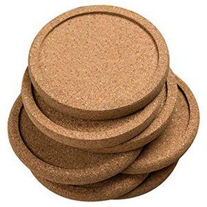 12 шт./партия простая круглая пробка подставки набор кофейных чашек коврик для напитков чайные подставки салфетки винный столик коврики Дек...