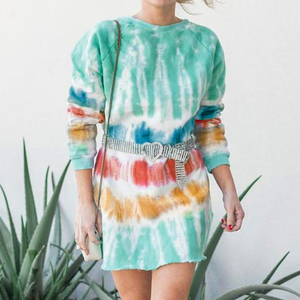 Fashion Women Fashion Tie Dye Print Sweatshirt Women Long Sleeve Autumn Spring Women Clothes Streetwear Harajuku Hoodie