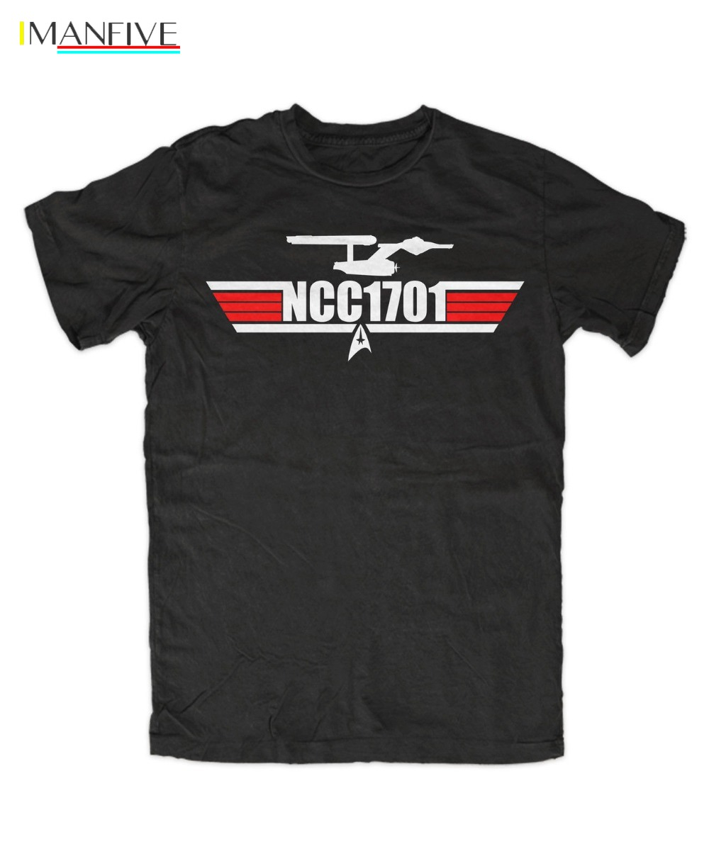2019 Summer style Fashion NCC-1701 T-Shirt Star,Kult,Fun,Trek,Spock,Movie,Tv,Kirk,Picard,Uhura,Crusher Funny Tee shirt image