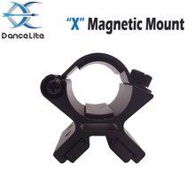 """1 шт. стандартный 25 мм диаметр Тактический Магнитный фонарик крепление HA III магнит """"X""""-форма алюминиевый держатель для пистолета"""