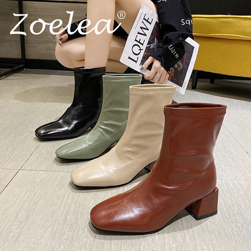 Leather boots autumn and winter platform shoes long tube short tube Cavalier Chelsea Martin boots women shoes Ladies boot goth