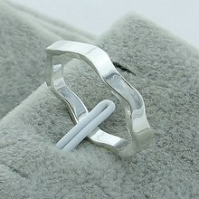 New Arrival 925 Silver Color Fashion Costume Jewelry Wave Rings For Women European Slim Knuckle Turns Bend Ring