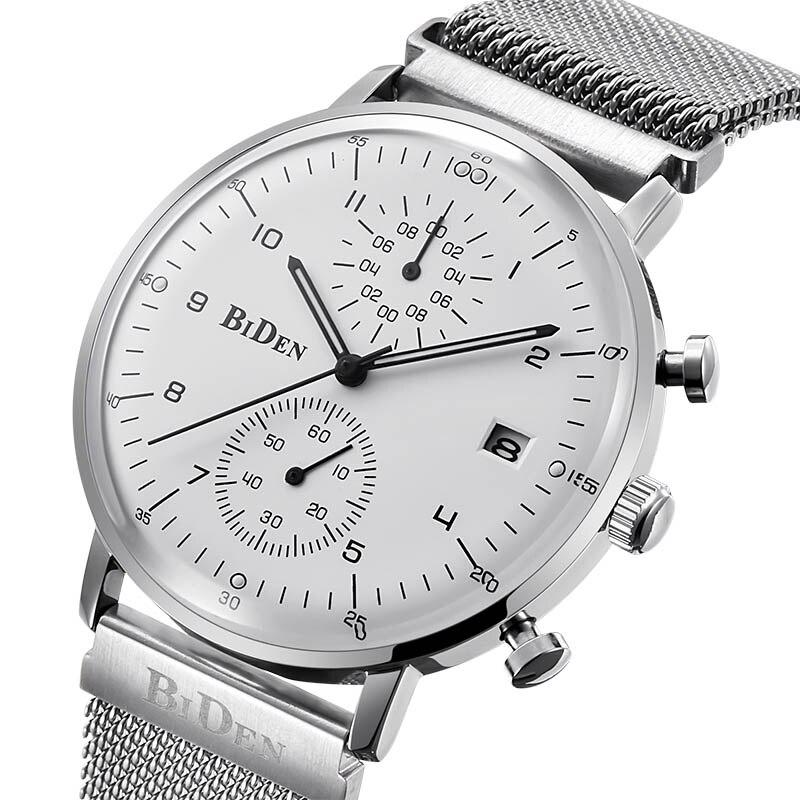 Luxury Brand Men Watch  Male Quartz Sport Watch Thin Steel Sport Quartz Clock Men Waterproof Casual Wristwatch Relogio