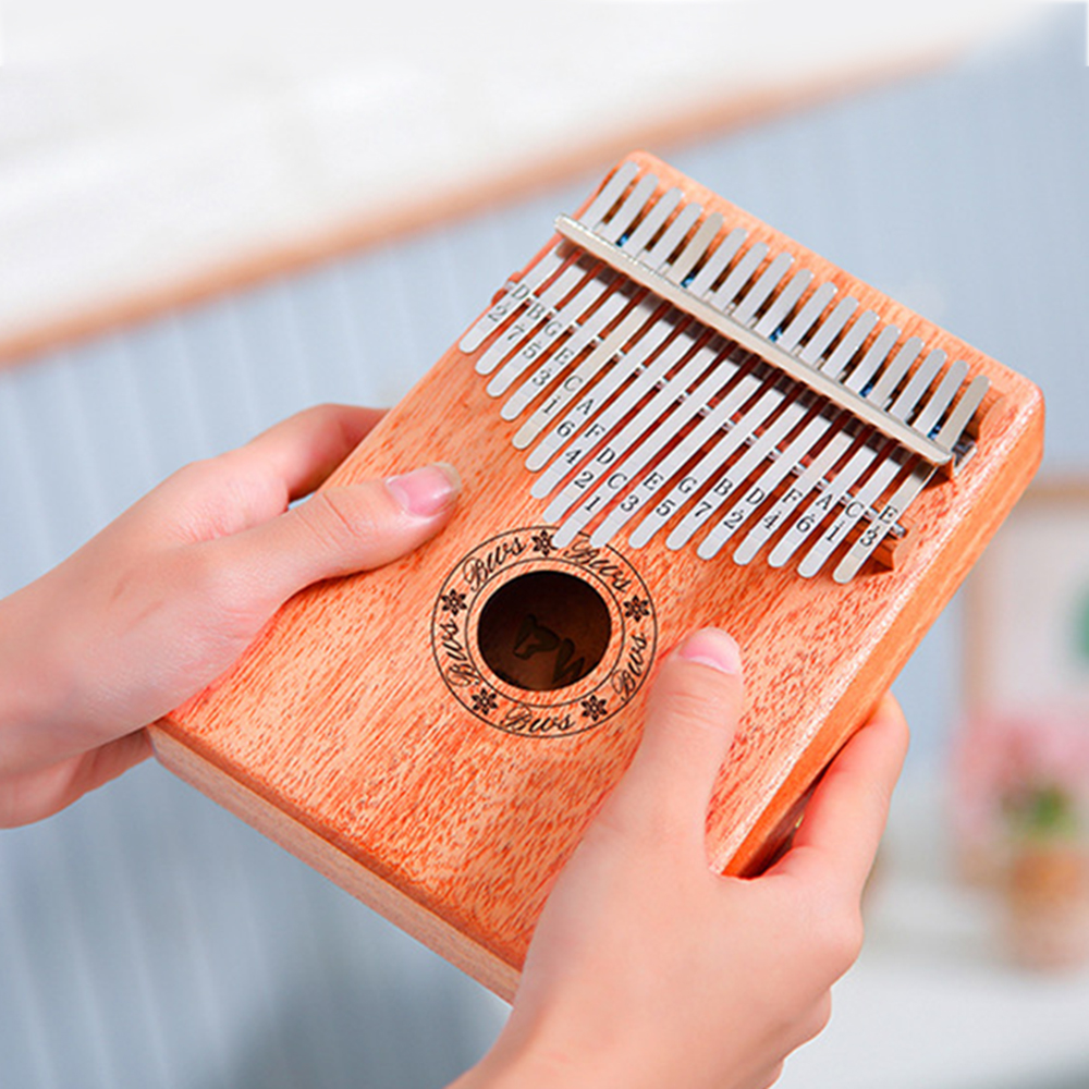 10/17 Keys Kalimba Thumb Piano Wood Mahogany Body Musical Instrument Toy With Learning Book Tune Hammer Beginner For Kid Child
