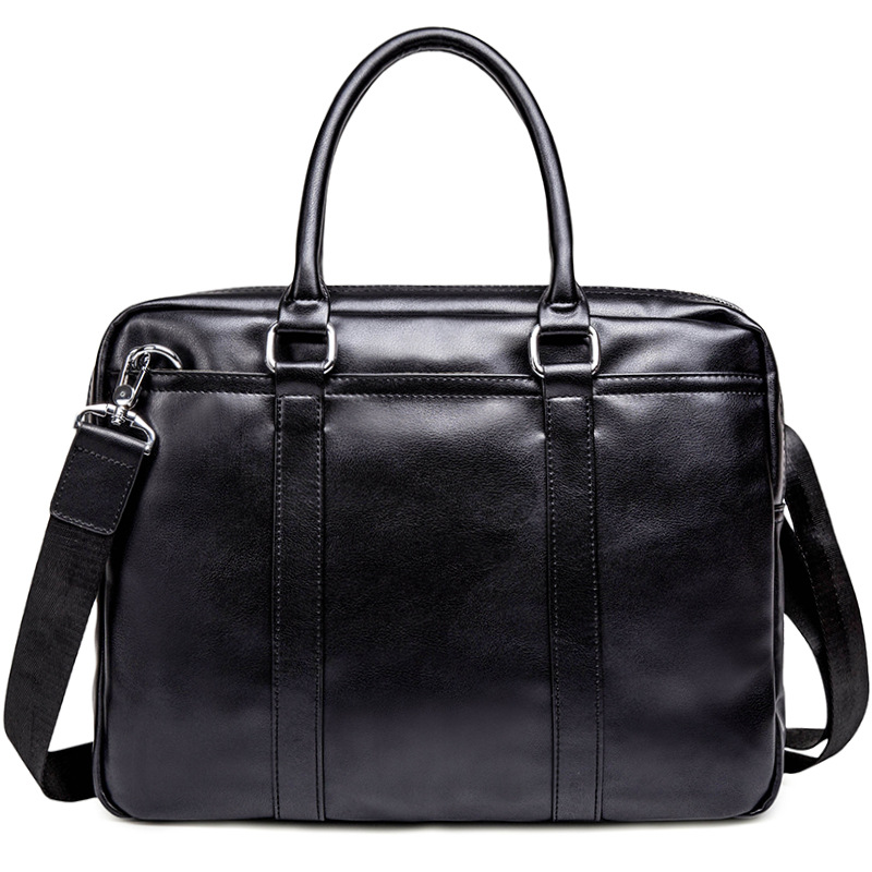 New Handbag Business Briefcase Bag Leather Fashion Section Youth Shoulder Messenger Bag Korean Style Of The Men